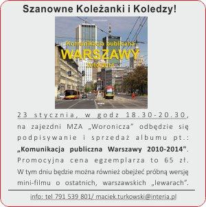 Komunikacja Publiczna Warszawy 2010-2014